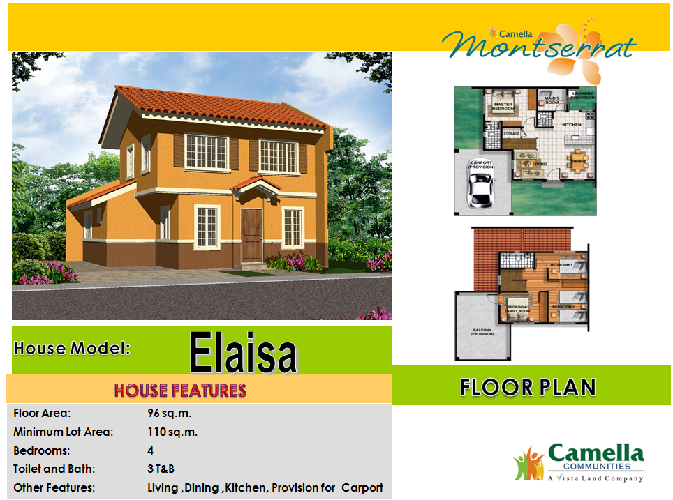 Camella homes dumaguete palinpinon road barangay candau ay dumaguete city real estate mas - Camella homes design with floor plan ...